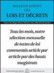 Bulletin annoté des lois et décrets