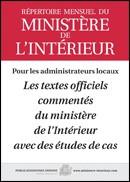 RÉPERTOIRE MENSUEL DU MINISTÈRE DE L'INTÉRIEUR